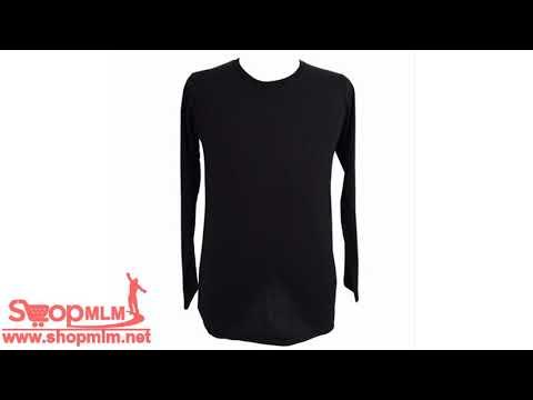 Chahom เสื้อยืดคอกลม แขนยาว สีดำ  83
