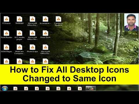 How To Fix All Icons Are The Same Like VLC,Internet Explorer,etc... On Windows 7/8/10