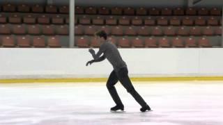 ISU 2015 Jr. Grand Prix Men Free Skate  Riga Mehmet CAKIR TUR