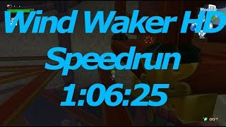 Wind Waker HD Any% Speedrun in 1:06:25(No Fairy Hover)