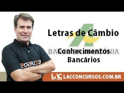BASA 2018 - Letras de Câmbio - Conhecimentos Bancários