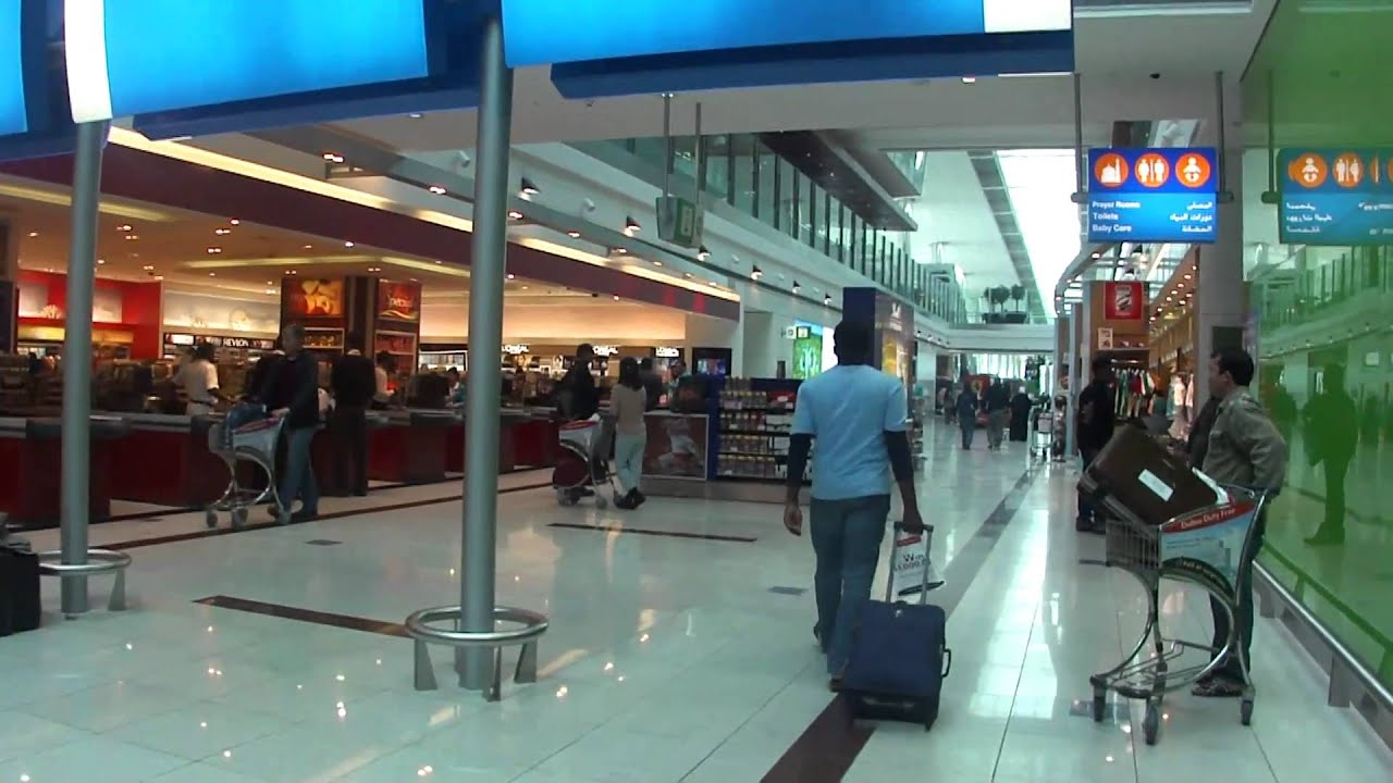 Inside Dubai International Terminal 3 Airport - YouTube