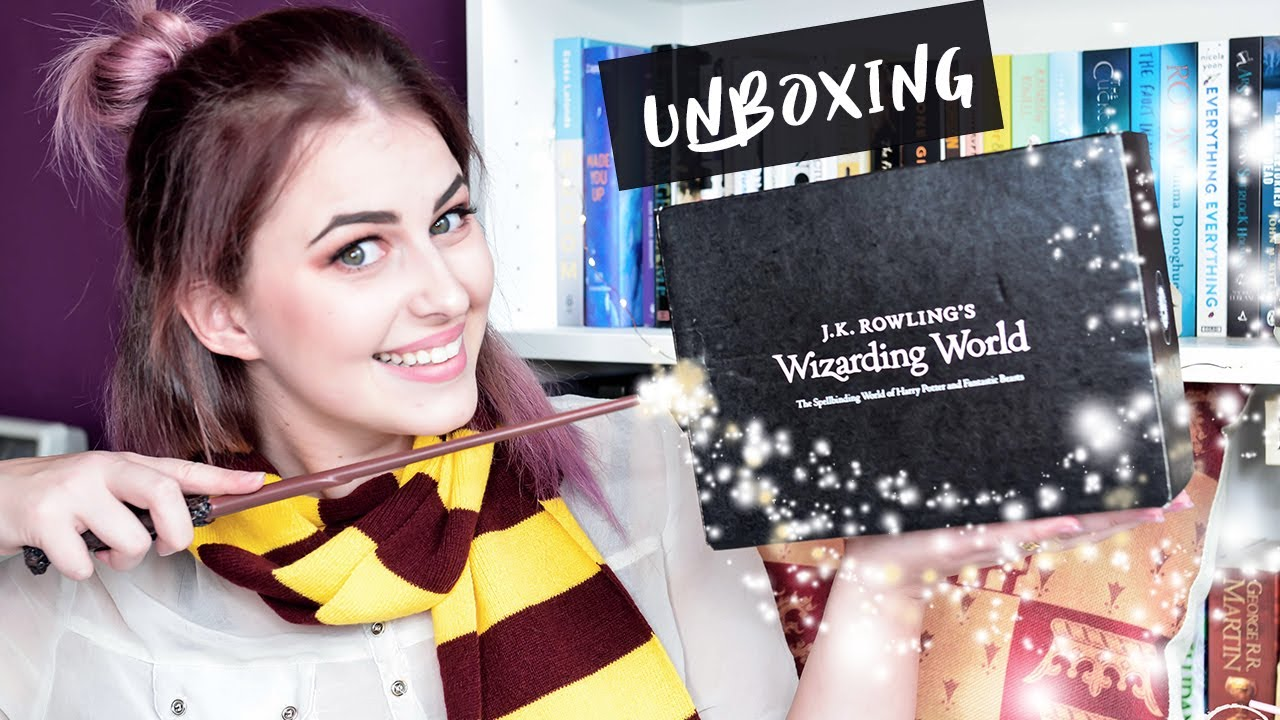 Harry Potter Book July : Wizarding world loot crate box harry potter unboxing