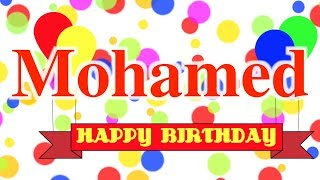 Happy Birthday Mohamed Song