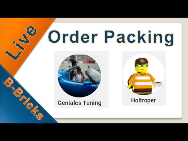 Live🔴 Order Packing #01, mein allererster Stream😄