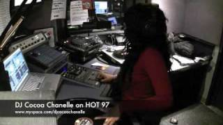 "DJ Cocoa Chanelle at ""HOT 97"" LIVE on air"
