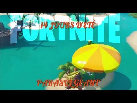 fortnite-dÉfis-14-jours-d'ÉtÉ-:-rebondir-sur-un-parasol-de-plage-géant-dans-différentes-parties