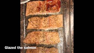 Glazed Salmon With Roasted Raspberry Chipotle Sauce By Ortiz Kitchen