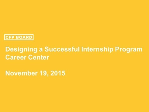 Designing Successful Internship Programs