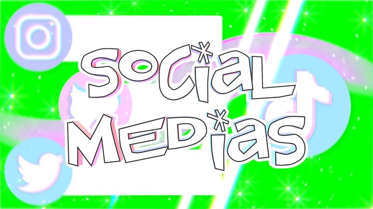 Summer Social Medias Greenscreens Tiktok Snapchat Instagram Youtube