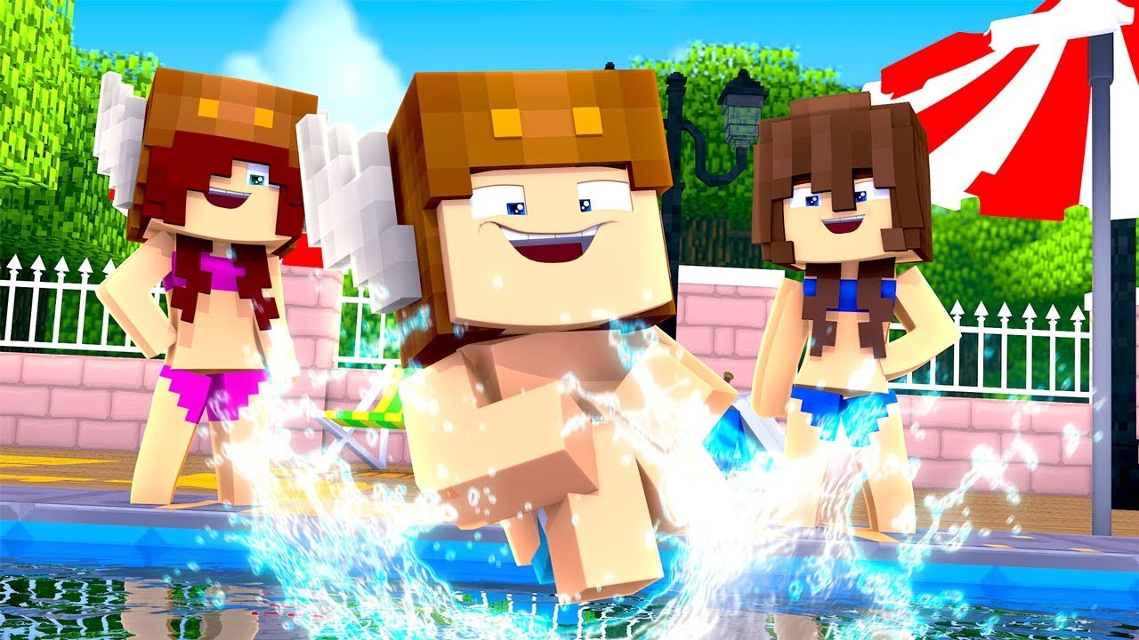 Minecraft Daycare - SWIMSUIT POOL PARTY! (MINECRAFT ROLEPLAY)