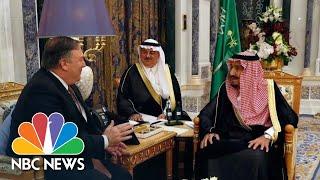 Mike Pompeo Meets Saudi King Over Mysterious Disappearance Of Jamal Khashoggi | NBC News