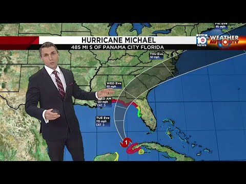 Strengthening Hurricane Michael on track to hit Florida Panhandle