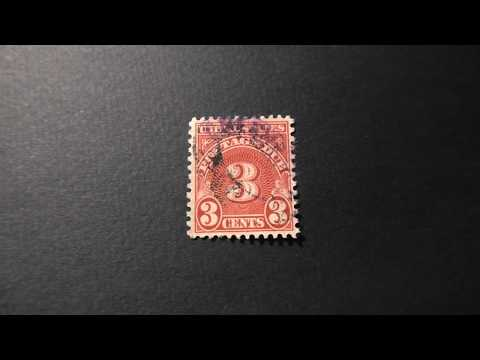 Postage Stamp. USA. Postage Due. Price 3 Cents