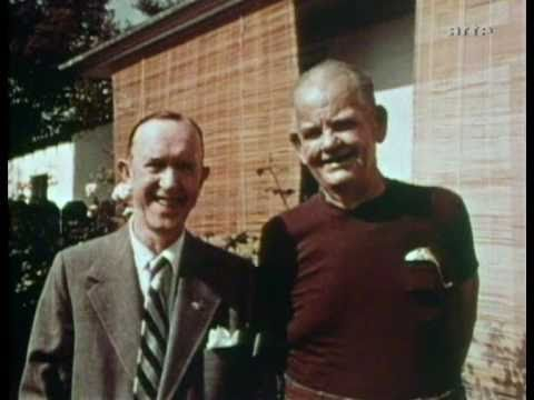 Stan Laurel & Oliver Hardy in 1956