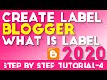 How To Create Label And What Is Label In Blogger Tutorial-4 Hindi/Urdu 2019