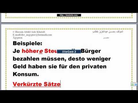 Lektion 147 Je Desto تعليم اللغة الألمانية تابع آداة الربط2 Youtube