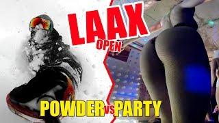 Laax POWDER PARTY Open!!! - Neve fresca e party non stop per una settimana. SnowVLOG ITA