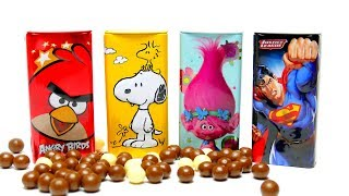 Choco Candy Drops - Angry Birds Superman and Trolls