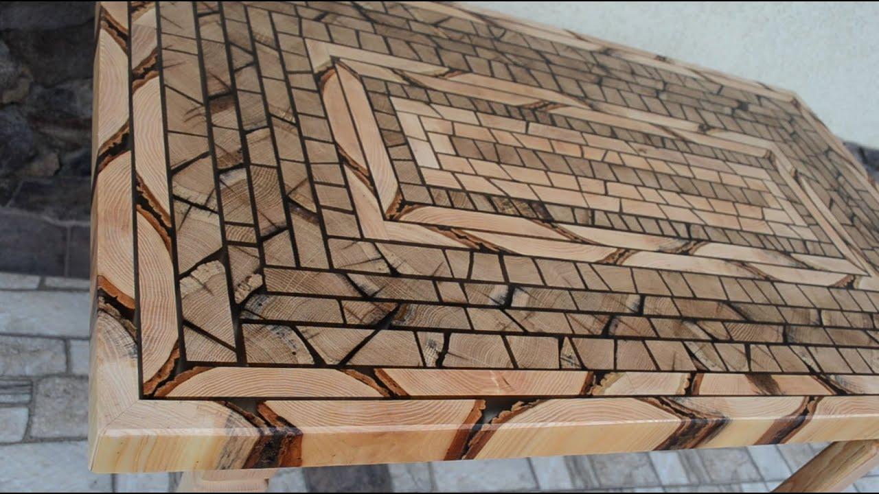 Hardwood kitchen table