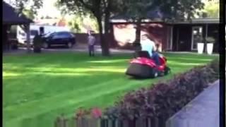 lawn mower prank gone