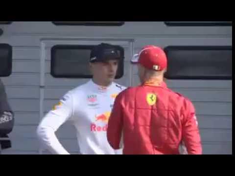 Vettel confronts Verstappen after the crash CHINESE GP 2018
