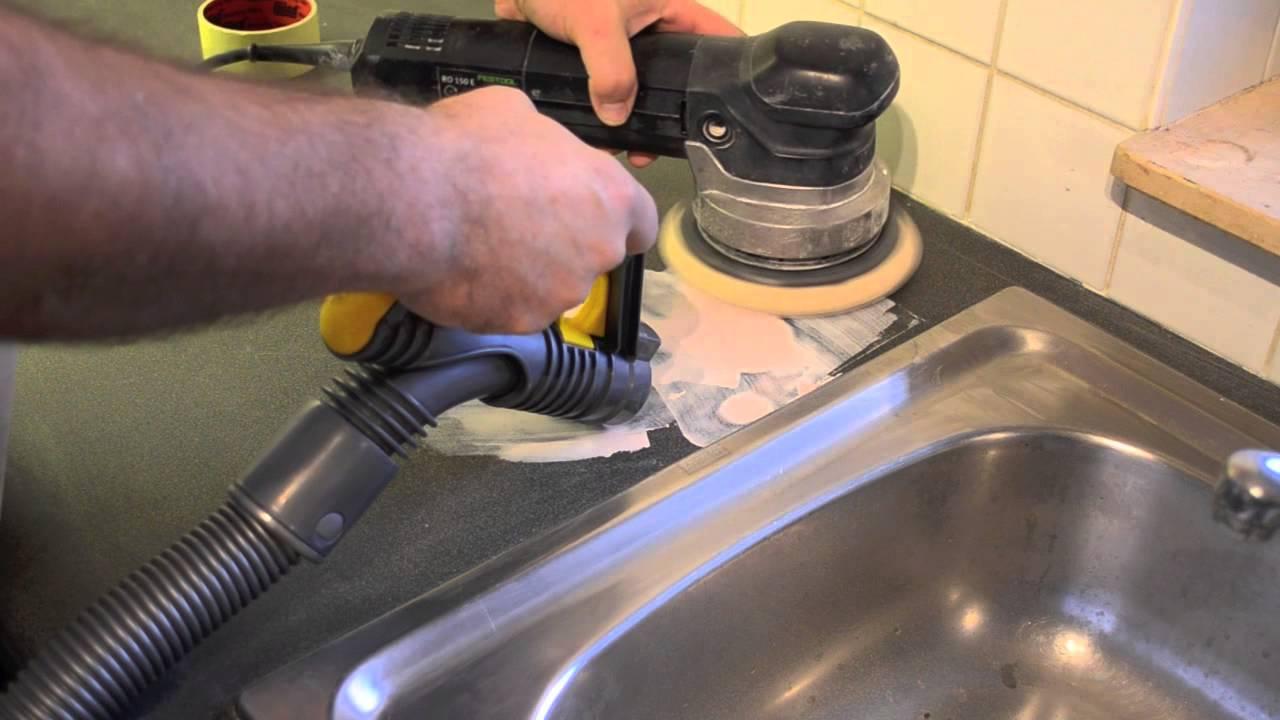 Werkblad Keuken Verven : Reparatie renovatie van keukenblad schadeherstel aan