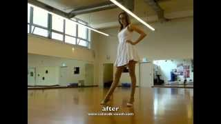 Model Learns How To Walk In High Heels