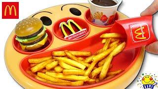 コーラとマックが食べたいバイキンマンと車でおでかけ♩みかんちゃん(リカちゃん)とメルちゃんが働くハンバーガーショップにやってきたよ!ド...