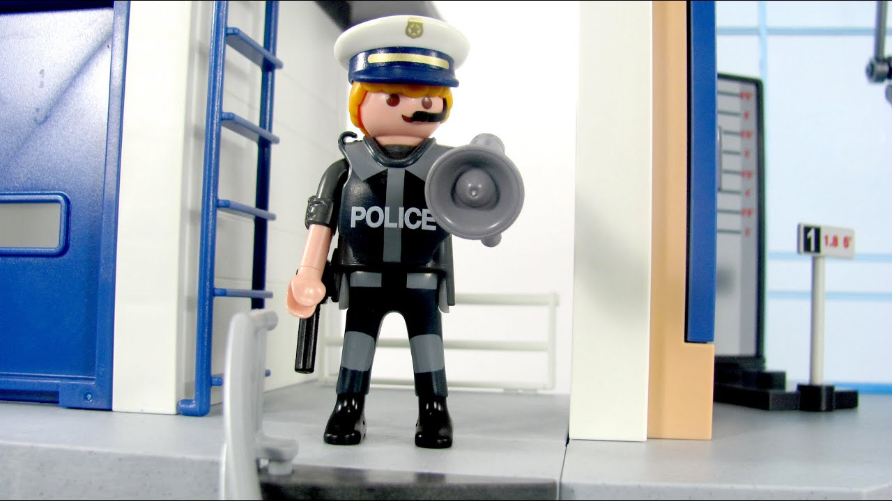 playmobil toys 5182 police station alarm system toy review