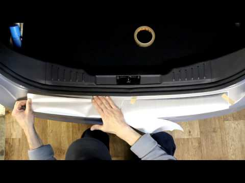 Наклейка на задний бампер для Ford Focus 3 (Форд Фокус 3)(седан)
