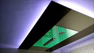 Зеркальный потолок с подсветкой