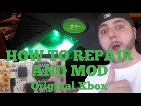 ORIGINAL XBOX CAPACITOR REPAIR DIFFERENT VERSION DISCUSSION AND WINDOW LED MOD - RETRO PRO FRANK