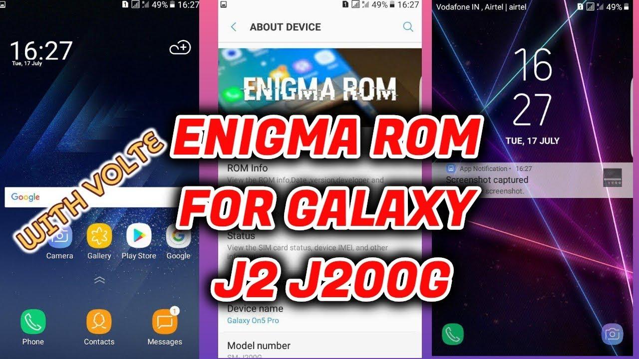 S8 Based Enigma V3 for Galaxy J2 J200G