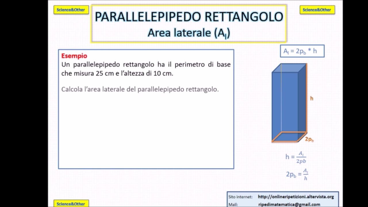 Area E Volume Di Tutte Le Figure Solide Formule Spiegazione Ed