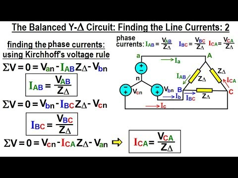 Electrical Engineering: Ch 13: 3 Phase Circuit (18 of 42) Find Line Current  in Y-Delta Circuit 2