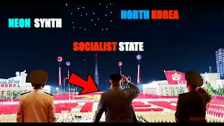 Neon Synth Socialist State | North Korea parade