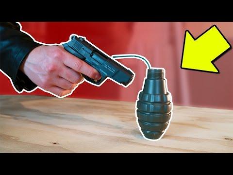"""GUN Vs GRENADE """"Shooting A Grenade"""" (Experiment)"""