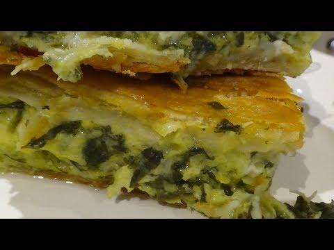 Greek Spinach Pie (Spanakopita) with Homemade Village Phyllo