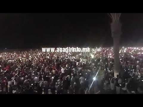 أكادير ... احتفالات تاريخية بشاطئ المدينة عقب تأهل المنتخب المغربي لروسيا