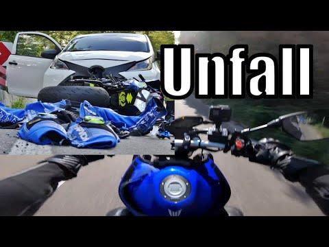 B14 Heftiger Motorradcrash