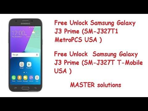 Samsung J3 Prime J327T And J327T1 Free Unlock 100% - YouTube