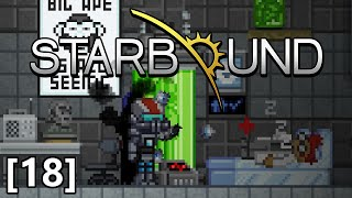 Starbound - Part 18 - Amazing Legendary Weapon! Starting a Colony