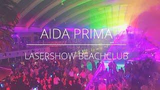 AIDAprima Lasershow im Beachclub