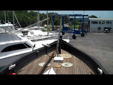 St Augustine, Florida Ship Espiritu Caravel in Dry Dock June 12, 2013