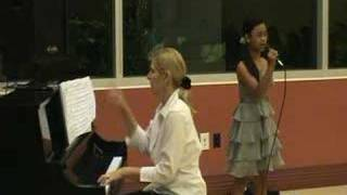 Nikki singing Inside Your Heaven with piano teacher