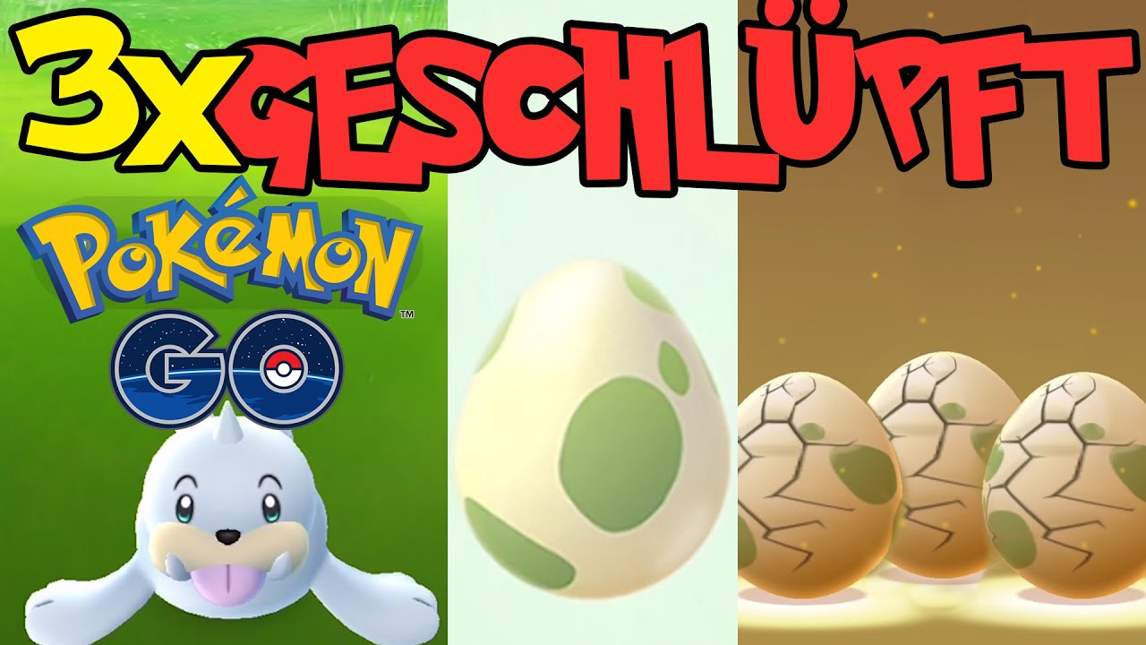 DREI EIER AUSGEBRÜTET - Lets Play Pokémon GO deutsch