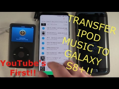 Transfer iPod Music to Galaxy S8+... Whoa!