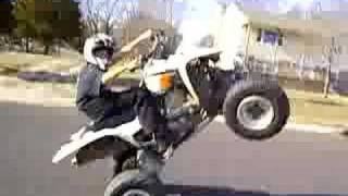 z400 wheelie 4 wheeler