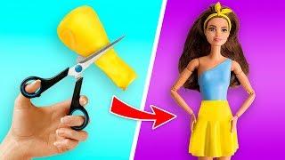 Erstelle Kleider für deine Barbie-Puppe in nur 5 Minuten oder weniger!